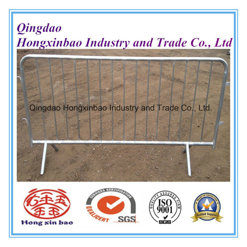 Cross Feet Crowd Control Barriers Galvanized Temporary Fence