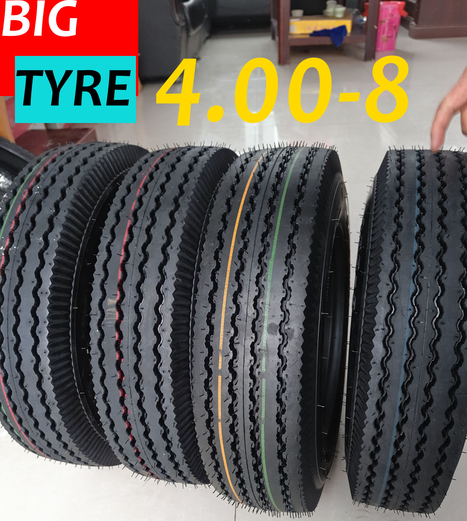 Mrf Pattern Tuktuk Tyre Tricycle Tyre Three Wheeler Tyre 4.00-8 4.00-12 4.50-12 5.00-12