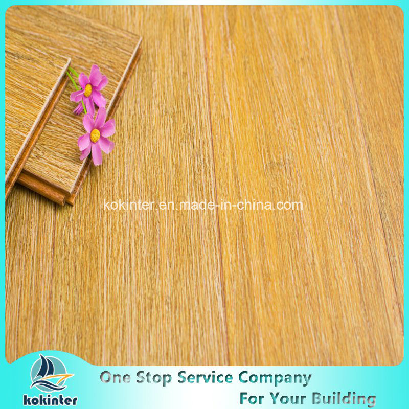 Cheapest Price Brushed Strand Woven Bamboo Flooring Indoor Use in High Quality White Oak Color