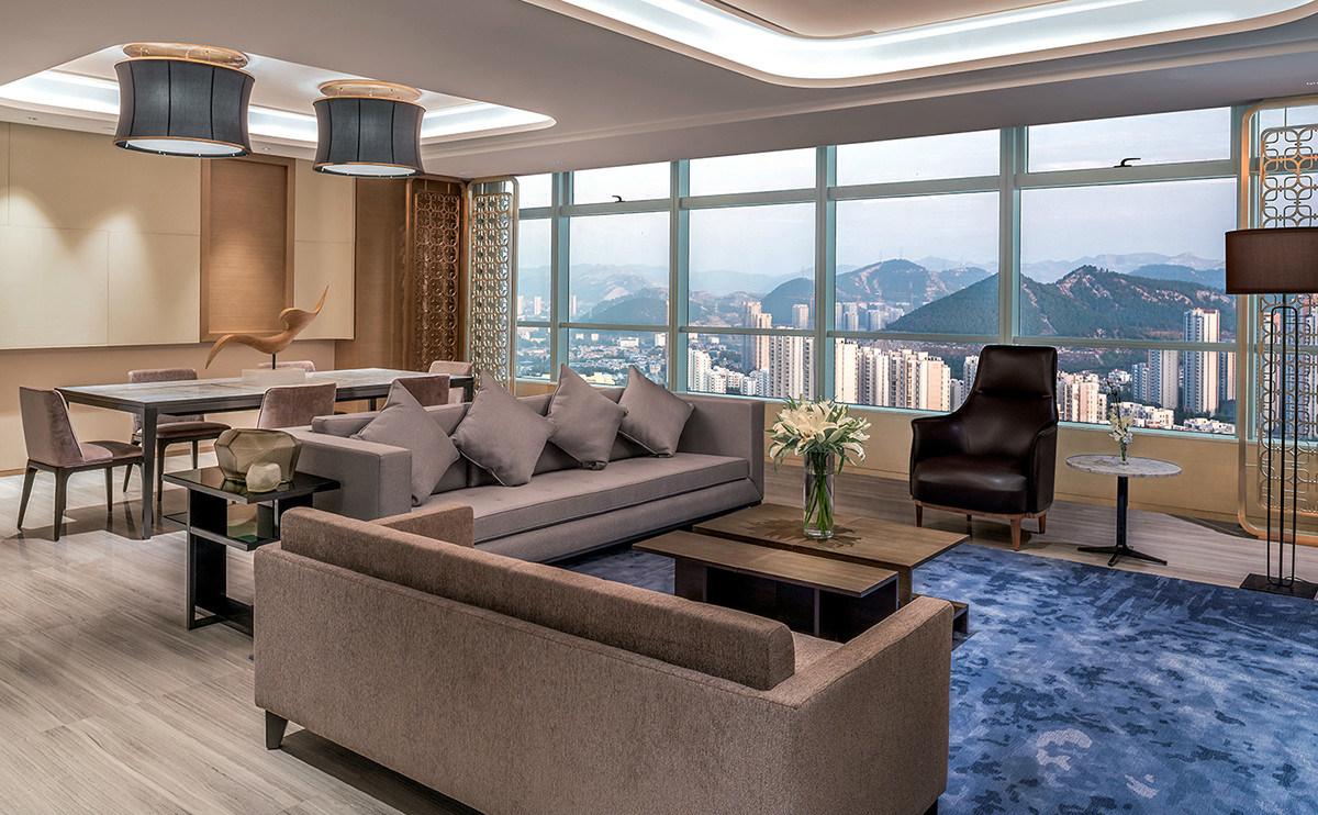 5 Star Hilton Luxury Hotel Bedroom Furniture/Double Hotel Bedroom Furniture/Luxury 5 Star Suite Hotel Bedroom Furniture- (GLB-20170831001)