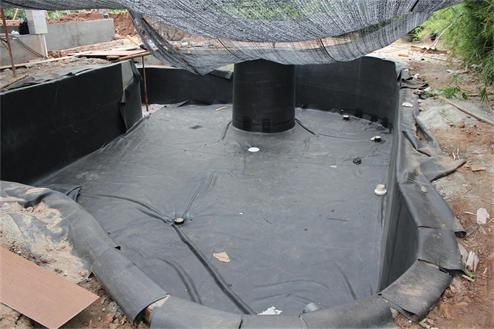 China 1 2 4m weldable epdm waterproof pond liner swimming for Rubber pond liner