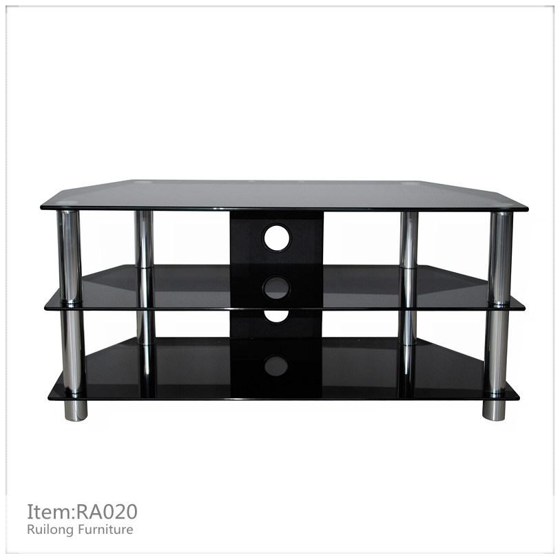 China Black Glass TV Stand RA020