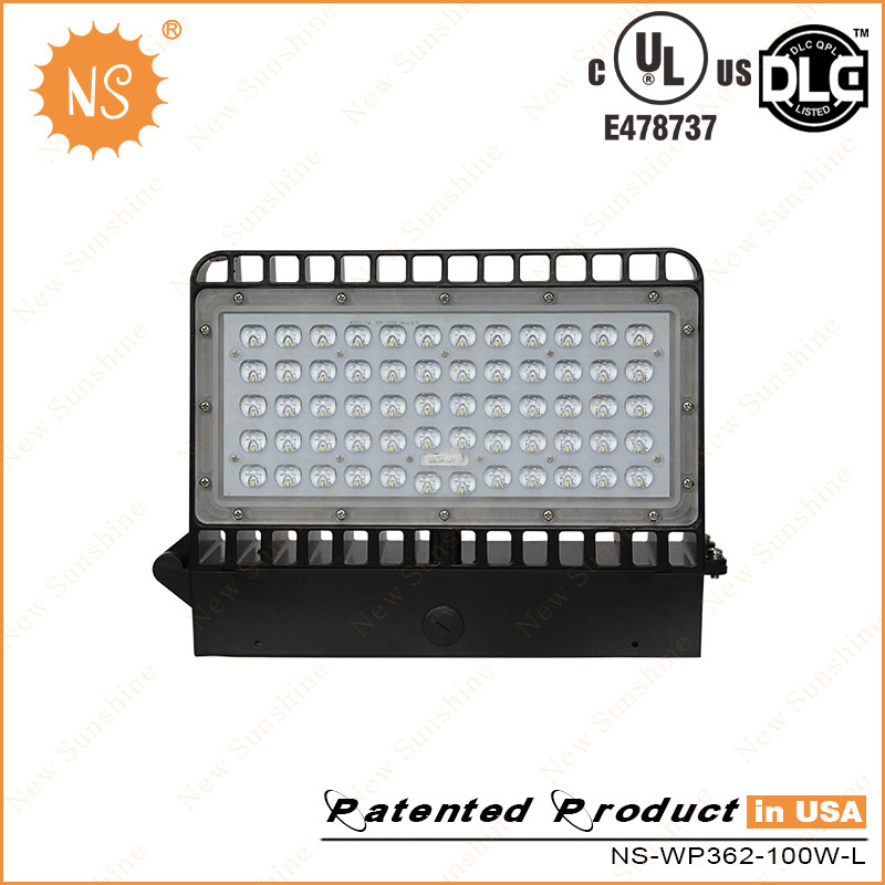 UL Dlc Listed IP65 Outdoor 100W LED Wall Pack Light