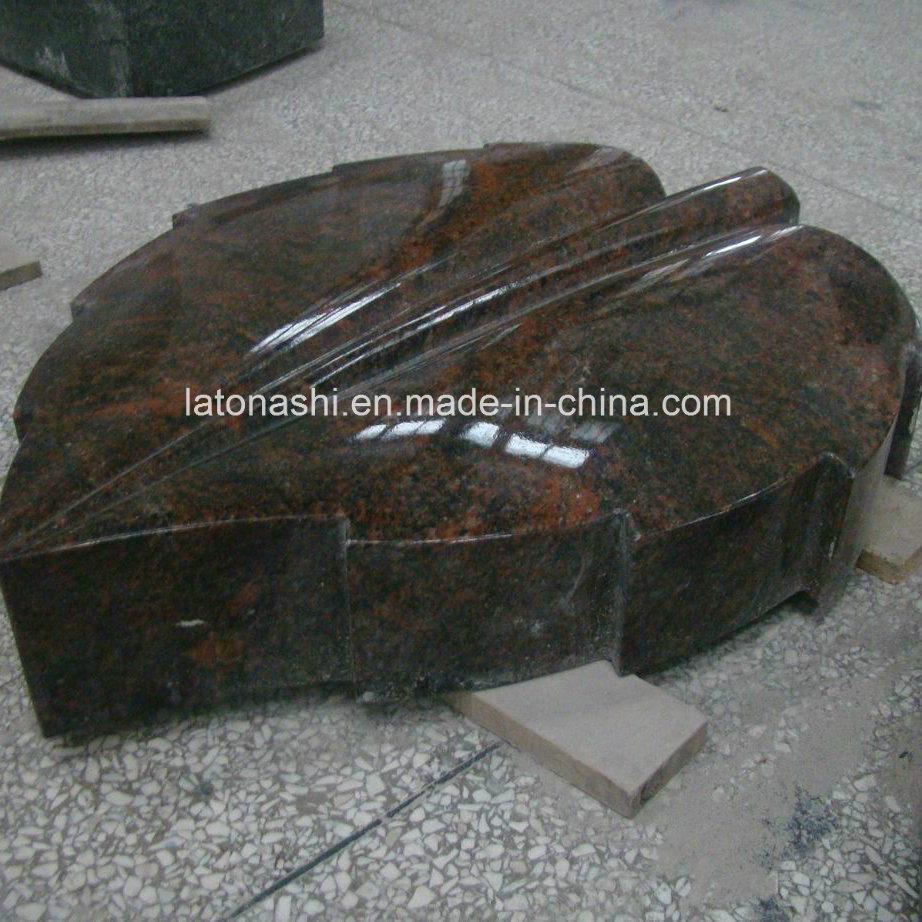 Aurora Leaf Grave Headstones / Lairstone / Monument