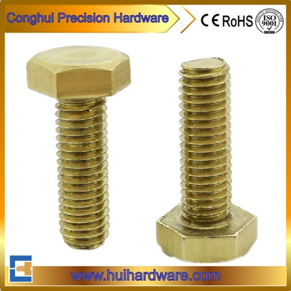 DIN933 Brass / Alloy Copper Full Thread Hex Bolt