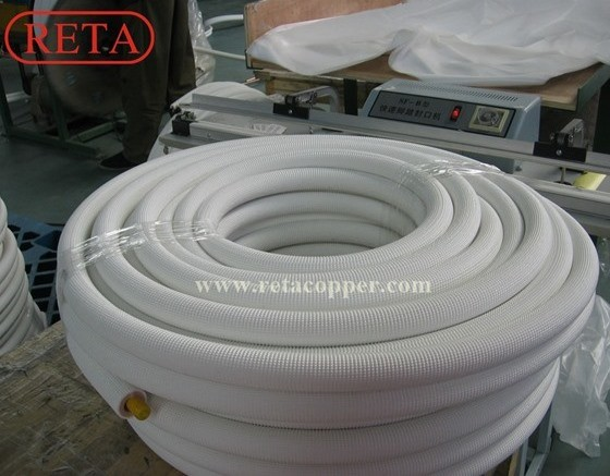 Air Conditioner Copper Tube Copper Coil Insulated Copper Tube