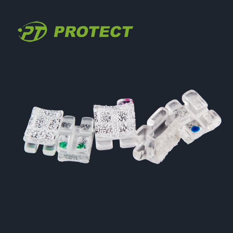 Orthodontic Clear Sapphire Bracket Dental Ceramic