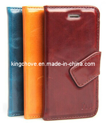 Fashion and Best Selling Leather for iPhone 5 Case (KCI03)