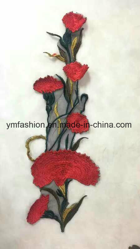 Hot Sell Fashion Garment Accessories Embroidery 3D Rose Flower Ym-45