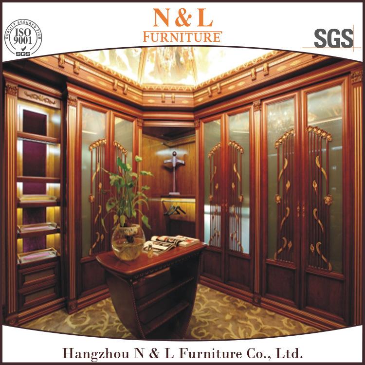 N&L Modern Luxury Wooden Bedroom Furniture Walk in Closet Design