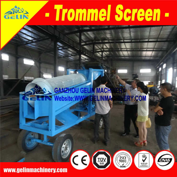 Alluvial Gold Mine Washing Machine Mobile Small Gold Washer Trommel in Ghana Africa From China Factory