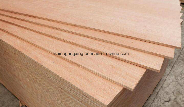 Okoume Plywood Sheets, Poplar Core E1 E0 Glue Commercial Plywood