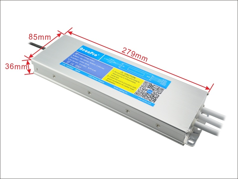 300W 12V IP 67 Waterproof Slim LED Switching Power Supply with Ce, Bis Certified