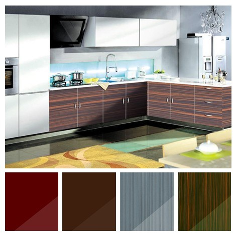 High Glossy Acrylic Kitchen Cabinet Sets, Modular Kitchen Cabinet