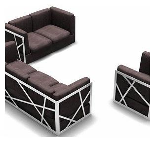 Modern Designer Furniture Sectional Leather Sofa Set