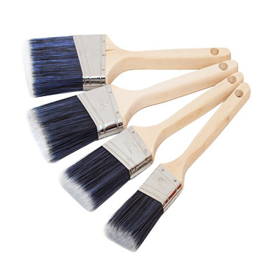 Angular Sash Brush with Wood Handle B015