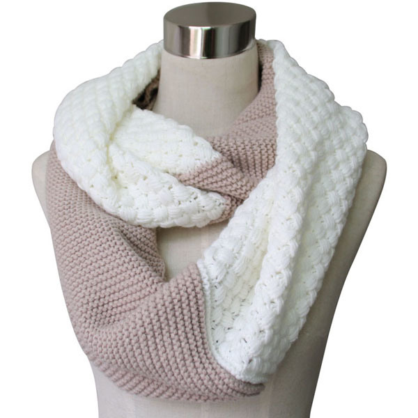 Women Fashion Acrylic Cashmere Pashmina Knitted Winter Infinity Scarf (YKY4186)