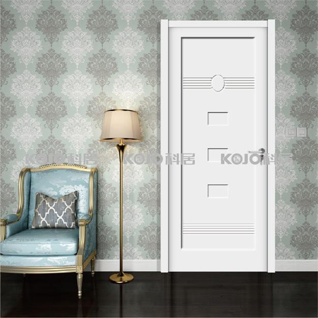 Eco-Friendly Waterproof WPC Interior Painting Door for Bedroom Bathroom (YM-064)