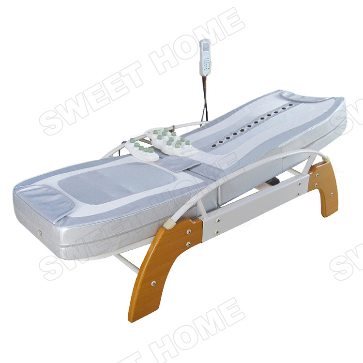 Electric Hydraulic Full Body Infrared Thermal Wood Thai Massage Bed