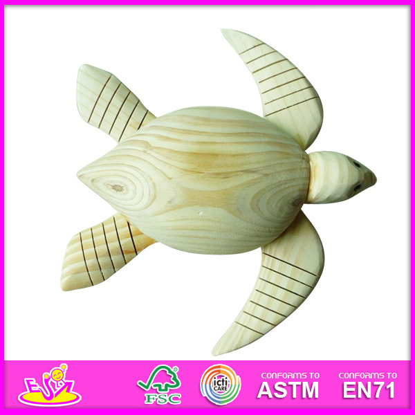 2014 New Kids 3D DIY Face Paint Toys, Turtle Style Child Wooden Face Paint Toys, Educational Baby Face Wooden Paint Toys W03A023