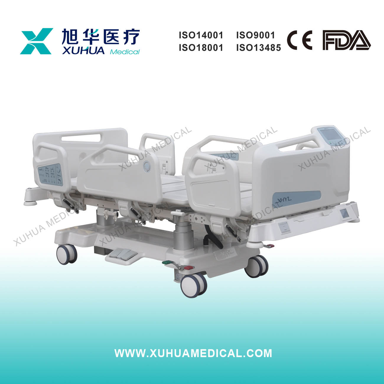 Multifunction Intelligent Electric Hospital Bed Ce Approved for ICU Room