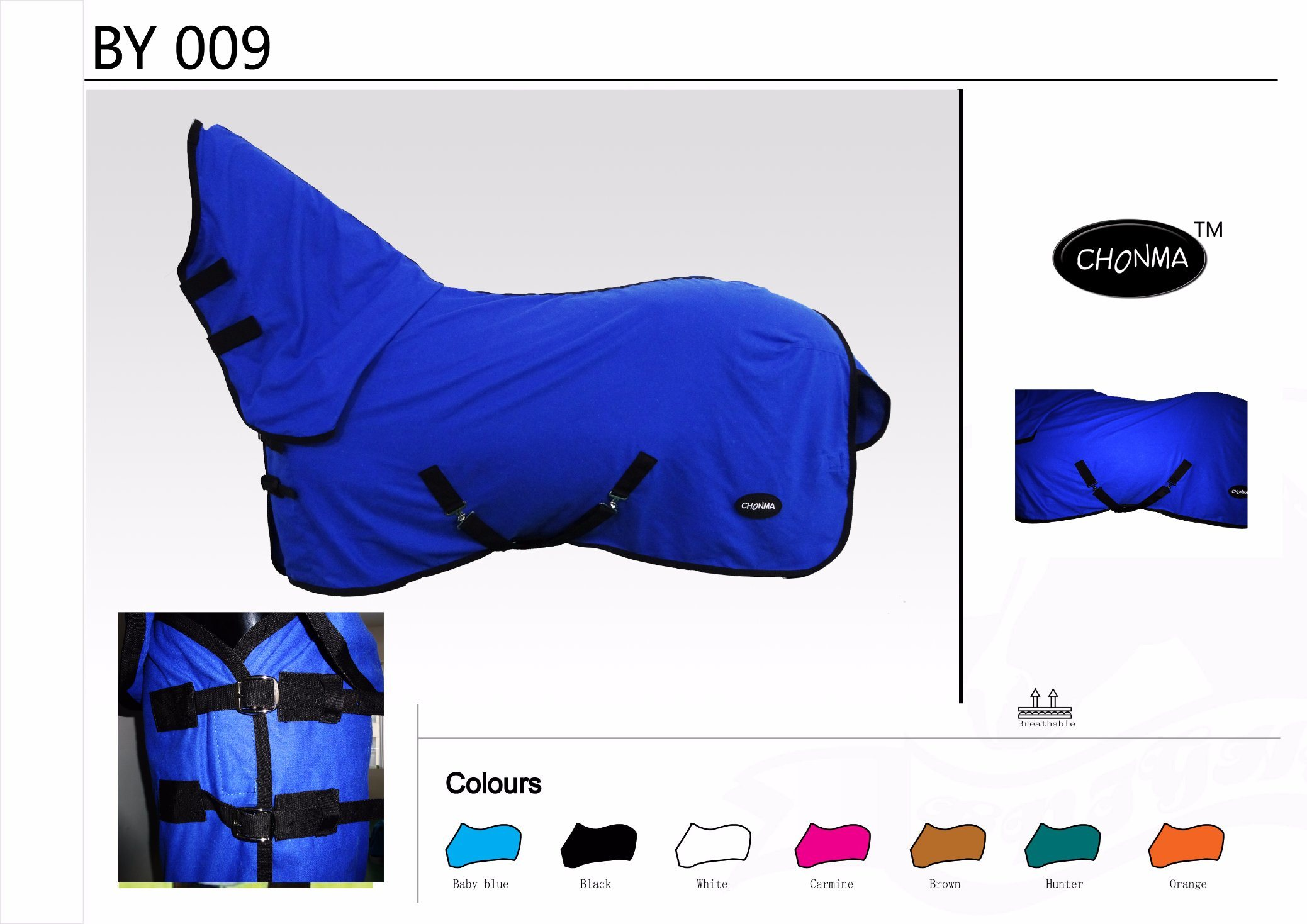 Hot Sale Equestrian Products Cotton/Polycotton Summer Horse Rug for Wholesale