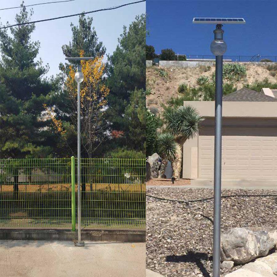 9W 6000k Online Solar LED Wall Lamp Fence Parking Yard Street Garden Light