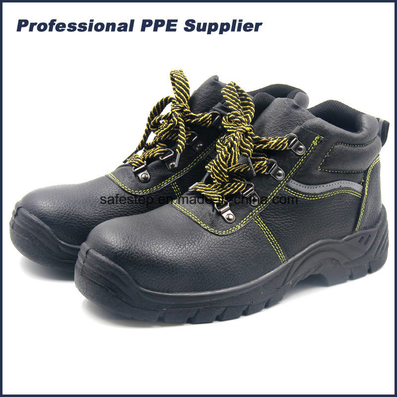 Cheap Leather Steel Toe Safety Boots for Heavy Work