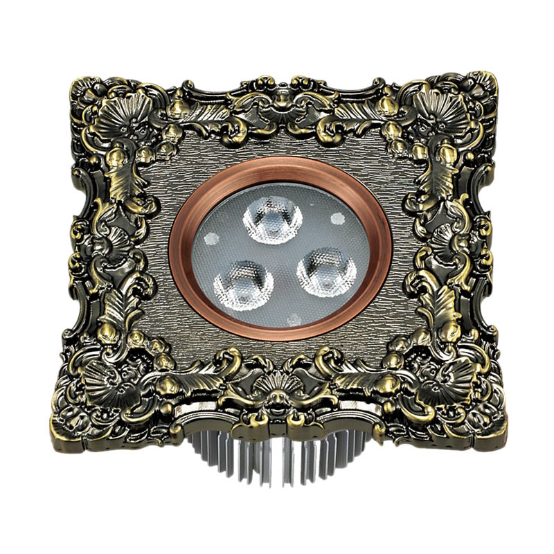 LED Ceiling Light with Brass Face Plate