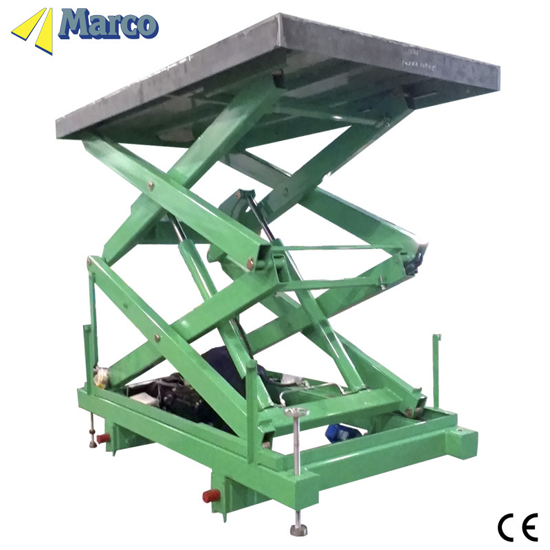 2.5-4 Ton Marco High Scissor Lift Table with CE Arrpoved