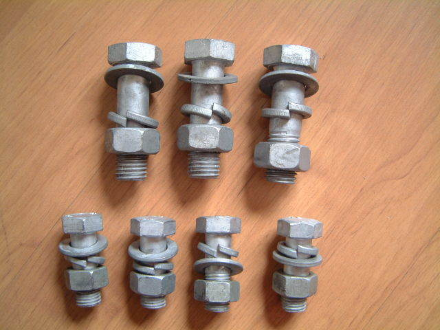 HDG Bolts, Nuts Anchor Bolt, Hexagon Machine Bolt