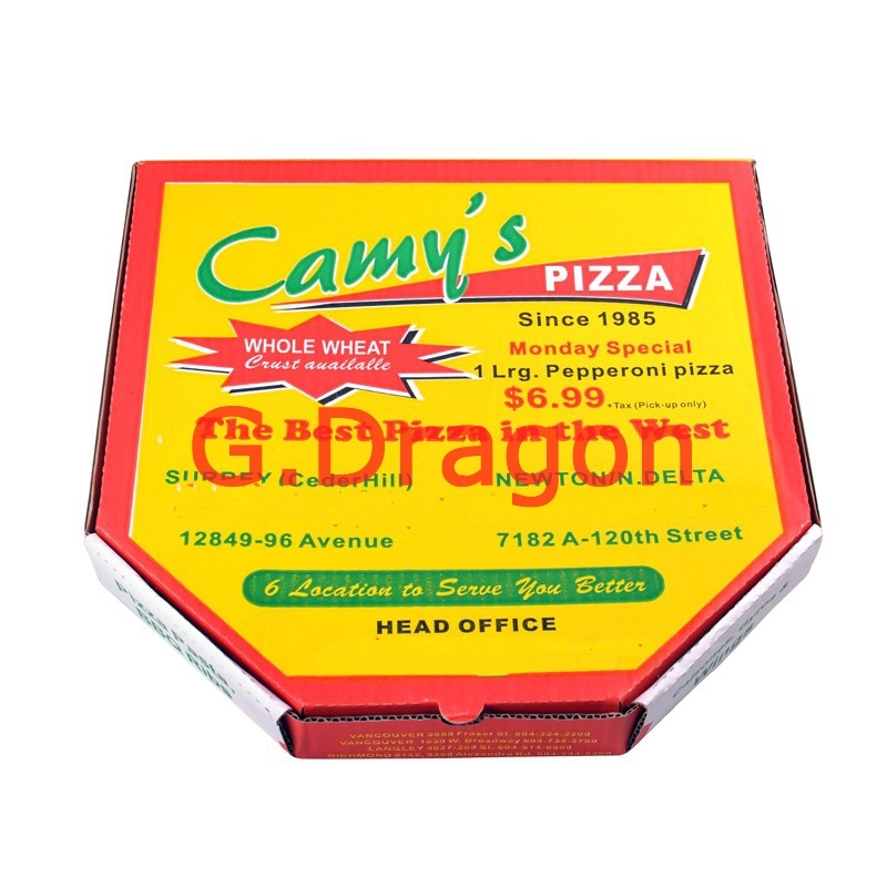 Locking Corners Pizza Box for Stability and Durability (PIZZ-015)