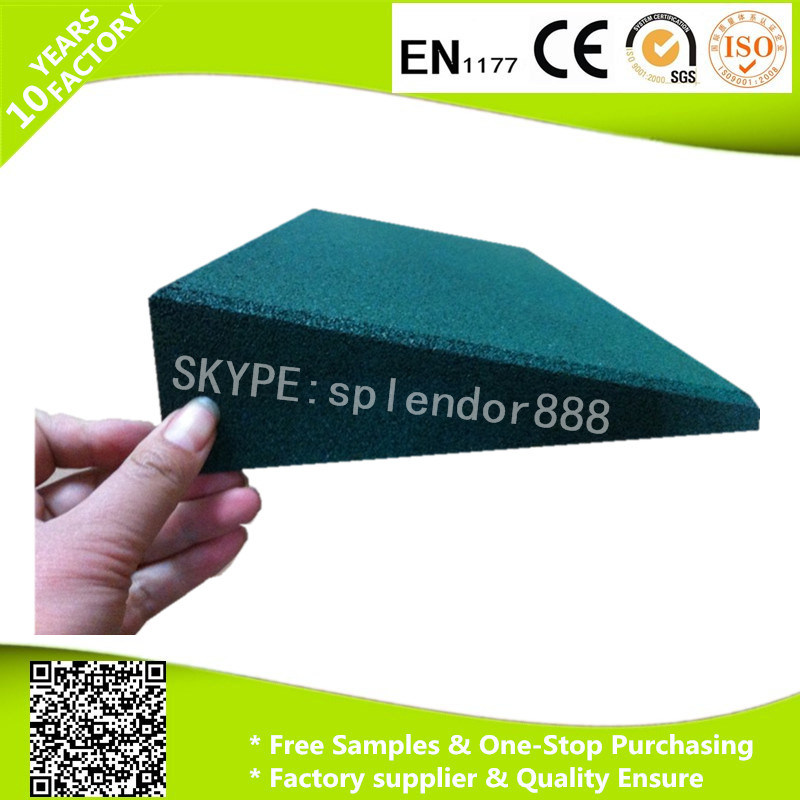 Garden Rubber Tile Border, Durable Rubber Safety Edge