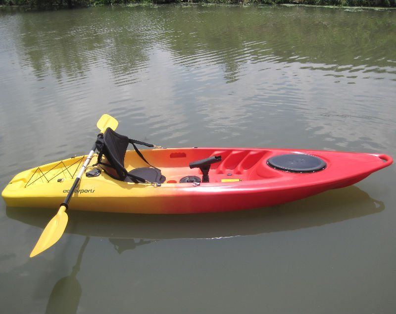 Classic One Person Sit-on-Top Fishgin Kayak Boat with Wheel (EO-14)