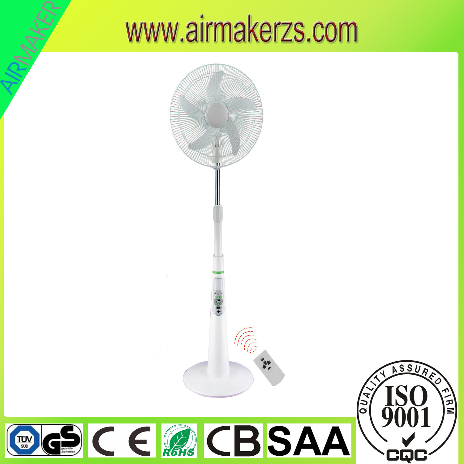 "18"" 5 Blades AC/DC Emergency Stand Fan with Mobile Charger"