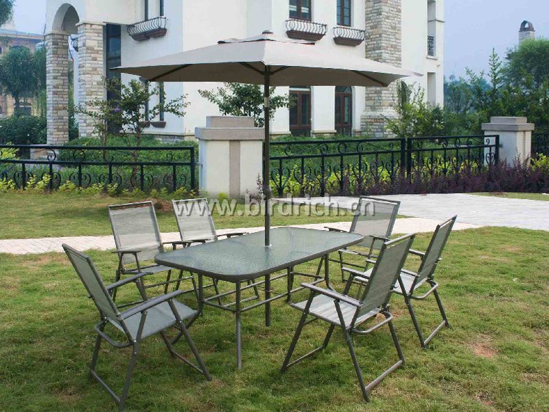 Metal Promo Patio Furniture Set 8PCS China Patio Furniture Outdoor Furniture