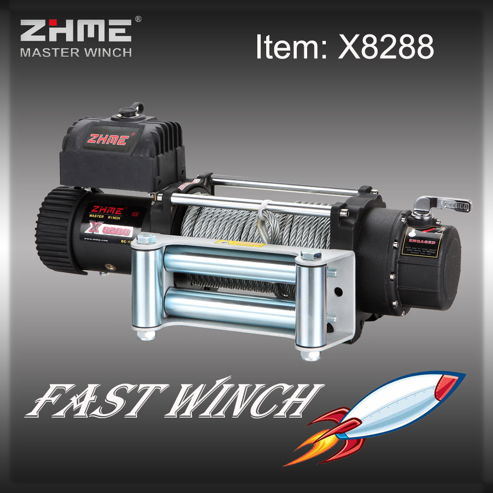 8000lbs Pull Auto Application Truck Winch with Wire Rope