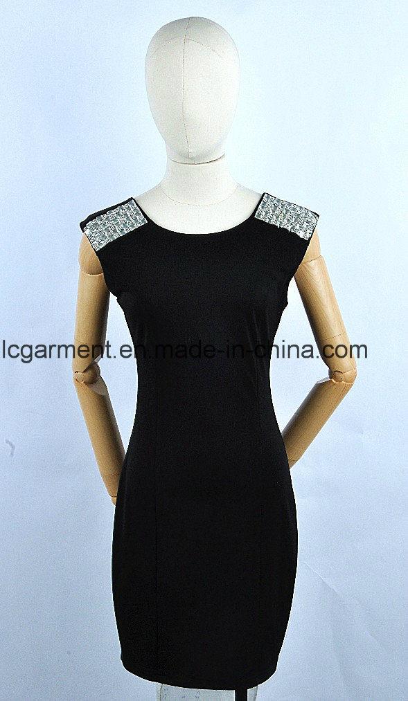 Wholesale Evening One Piece Black New Dress Ladies Black Dress