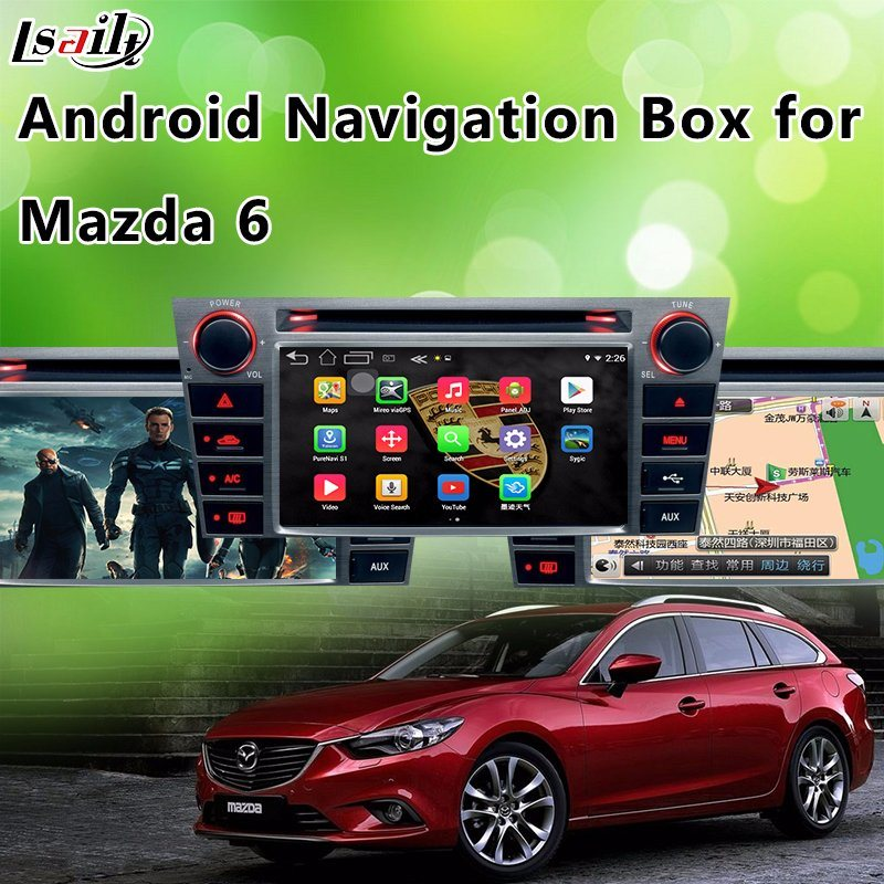 Android GPS Navigator Video Interface for Mazda2/3/6/Cx-3/Cx-5/Cx-9/Mx-5 (Car MZD Connect System)