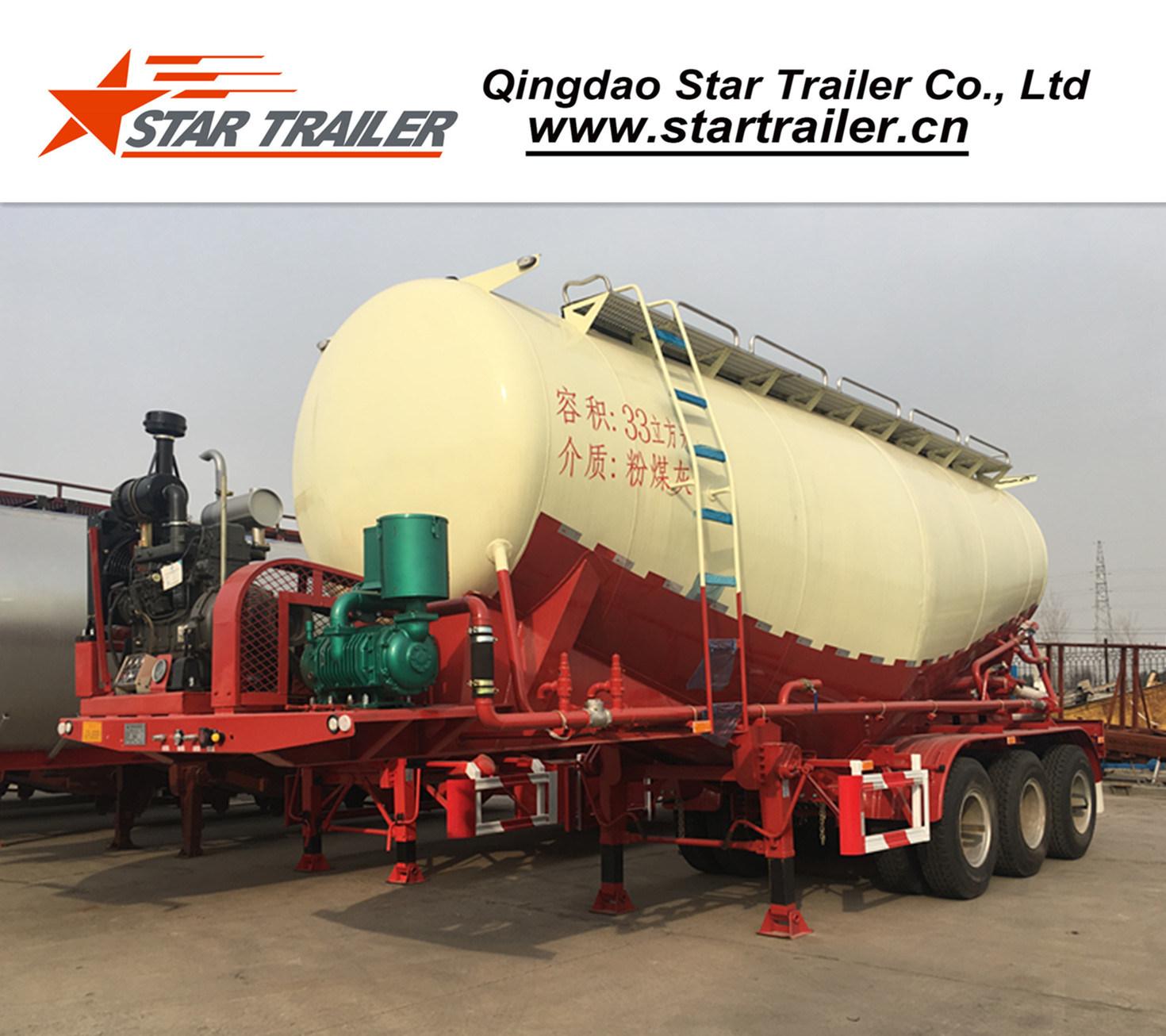 48 Cbm 3 Axles Cement Tanker Semi-Trailer