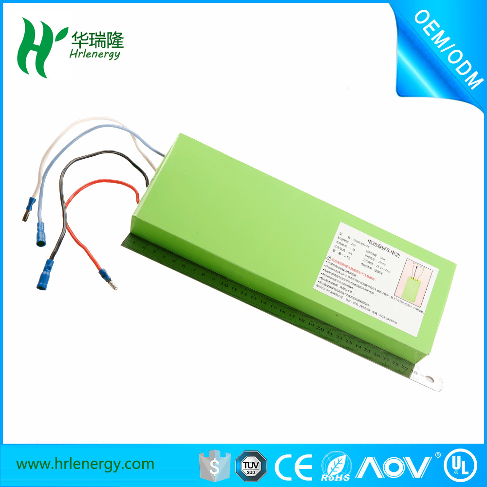 Electric Scooter Li-ion Lithium Polymer Battery 33105300 7s 2kg 9ah 9000mAh 24V