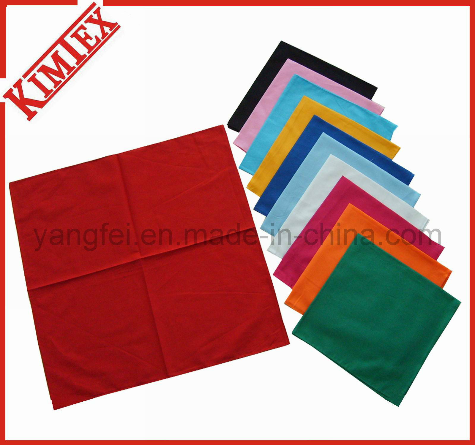 Wholesale Cotton Square Blank Color Pure Solid Bandana