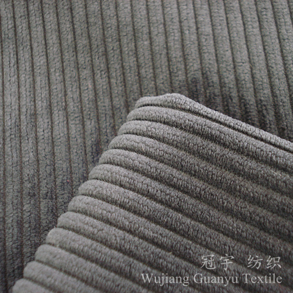 Cutted Pile Polyester and Nylon Corduroy Fabric for Sofa