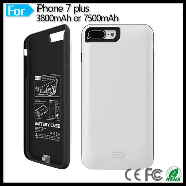 """Ultra Slim Extended Backup Power Bank Battery Charger Case Cover for Apple iPhone 7 Plus 5.5"""""""