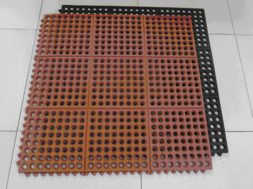 Anti-Bacteria Acid Resistant Hotel Rubber Floor Mat, Commercial Rubber Garage Tile