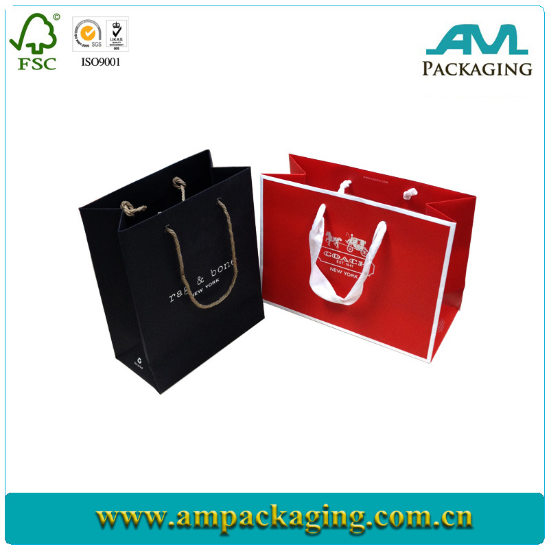Luxury Cotton String Color Printing Custom Paper Bag