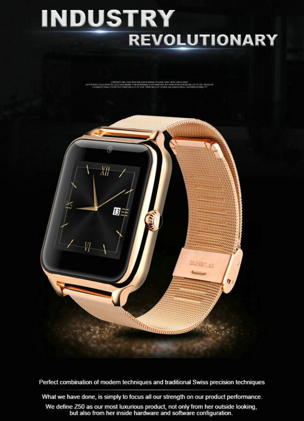 """New Arrival Bluetooth Watch Android Ios Smart Watch, Wrist Watch Z50 Watch, 1.54"""" IPS Touch Screen LCD/LED"""