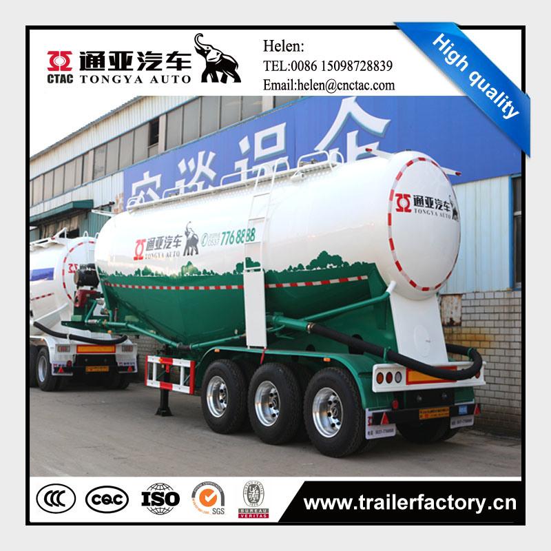 Three Axle Dry Bulk Cement Powder Truck Trailer
