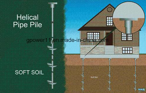 Steel Welded Ground Screw Anchor Earth Screw Anchor