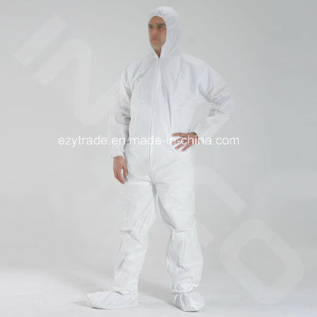 Disposable Protective Clothing Microporous Coverall Type5/ Type 6